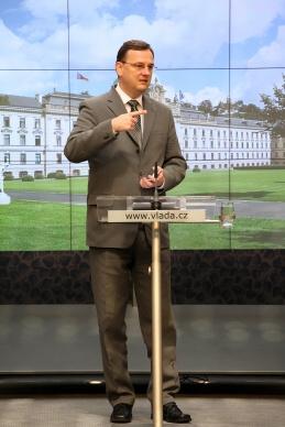 Premiér Petr Nečas, 21.7.2010