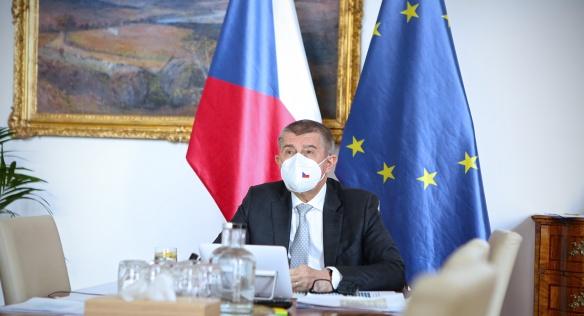 Vystoupení předsedy vlády Andreje Babiše na videokonferenci členů Evropské rady, 25. března 2021.