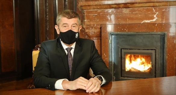 Novoroční projev předsedy vlády z Kramářovy vily.