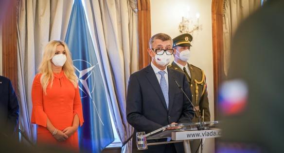 Premiér Andrej Babiš v projevu ocenil přínos všech laureátů ceny k hladkému průběhu evakuace z Kábulu, 8. září 2021.