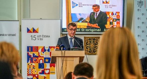 Projev předsedy vlády na konferenci 15 let členství České republiky v Evropské unii, 16. května 2019.