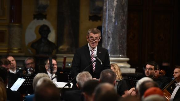 Andrej Babiš při slavnostním otevření Národního muzea v Praze, 27. října 2018.