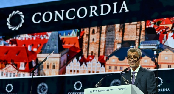 Prime Minister Andrej Babiš at the 2019 Concordia Annual Summit in New York, 23 September 2019.