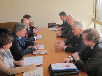 Min. Dienstbier se v Ženevě sešel s generálním tajemníkem Rady Evropy Thorbjornem Jaglandem