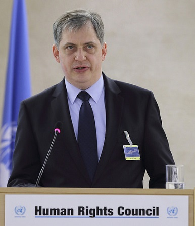 Ministr Jiří Dienstbier vystoupil v Ženevě v Radě OSN pro lidská práva, Foto: UN Geneva