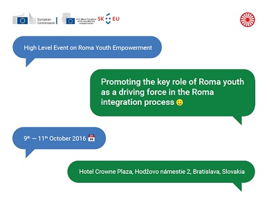 Konference High Level Event on Roma Youth Empowerment v Bratislavě