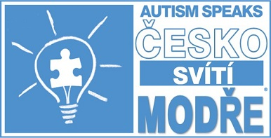 Česko svítí modře – logo
