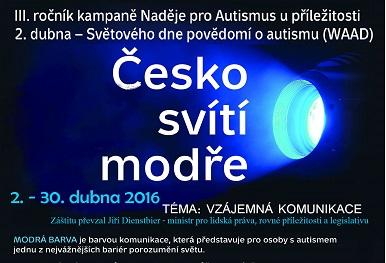 Česko svítí modře – plakát 2016