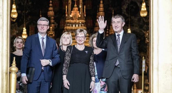 Česká delegace v královském paláci, 17. ledna 2019.