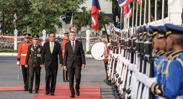 Czech Prime Minister Andrej Babiš and President of the Thai Government Prayut Chan-o-cha, January 16, 2019 in Bangkok.