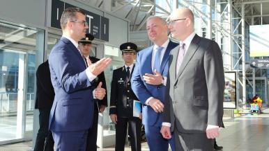 5. října 2016: Návštěva Letiště Václava Havla v rámci kontroly bezpečnostních opatření.