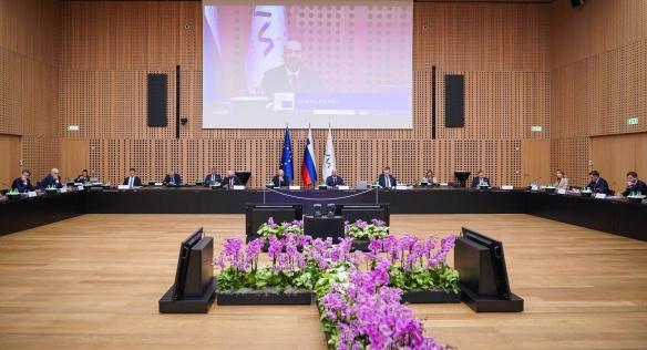 Jedním z hlavních témat brdského summitu bylo rozšíření Evropské unie o země západního Balkánu, 6. října 2021.