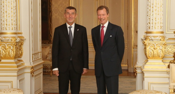 During this official visit the Czech Prime Minister met the Grand Duke of Luxembourg, 8 November 2019.