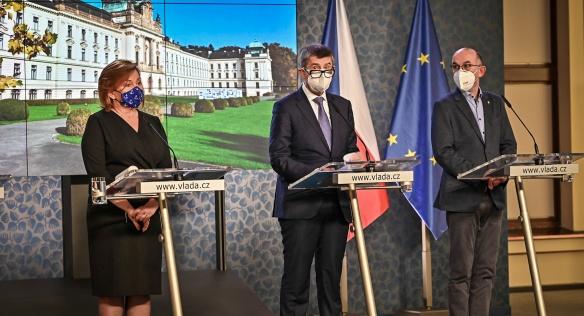Tisková konference po jednání vlády, 23. listopadu 2020