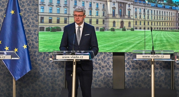 Tisková konference po jednání vlády, 11. října 2021.