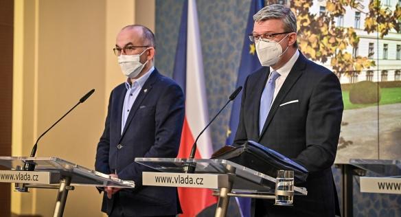 Tisková konference po mimořádném jednání vlády, 29. listopadu 2020