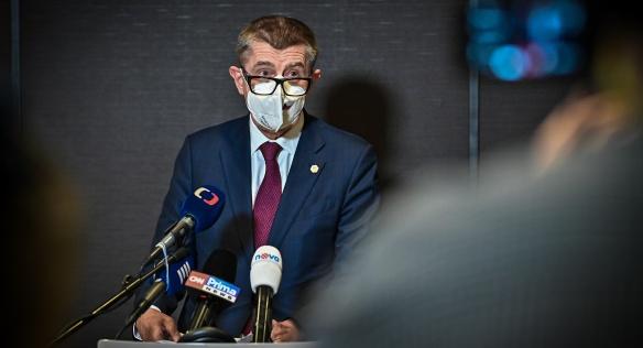Předseda vlády Andrej Babiš hovořil o závěrech jednání Evropské rady, 11. prosince 2020.