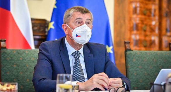 Předseda vlády Andrej Babiš během mimořádné schůze kabinetu, 7. července 2021.