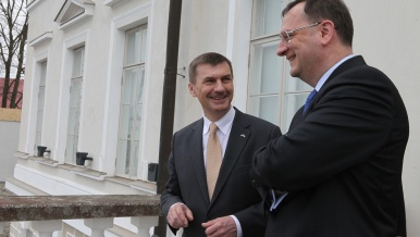 On Thursday 18th April 2013, Prime Minister Nečas visited Estonia.