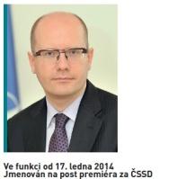 Předseda vlády - Mgr. Bohuslav Sobotka