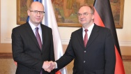On 3 March 2015, Prime Minister Bohuslav Sobotka met Reiner Haseloff, Minister-President of the Free State of Saxony-Anhalt.
