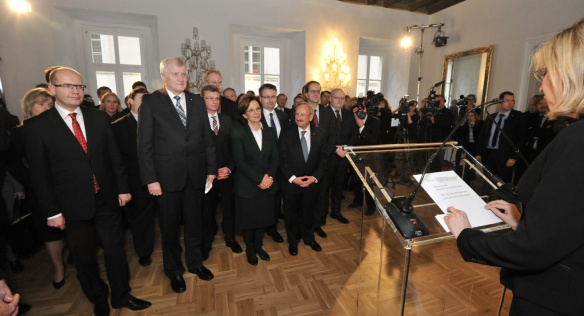 On 4 December 2014, Prime Minister Sobotka and Minister-President of Bavaria, Horst Seehofer jointly opened the representation of the Free State of Bavaria in the CR.