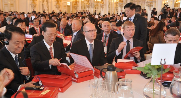Premier Bohuslav Sobotka launches the China Investment Forum, 28 August 2014.