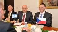 Prime Minister Sobotka received the Speaker of the Knesset of the State of Israel, Yuli–Yoel Edelstein on 10 September 2014.