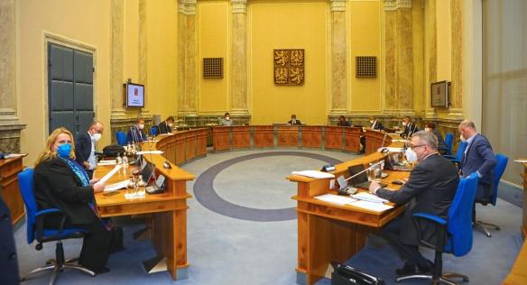 Tisková konference po jednání vlády, 22. února 2021.