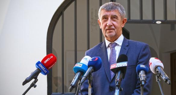 Předseda vlády Andrej Babiš informoval veřejnost o rozhodnutí kabinetu, 9. srpna 2021.