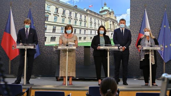 Tisková konference po jednání vlády, 24. srpna 2020.