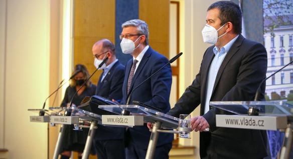 Tisková konference po jednání vlády, 22. března 2021.