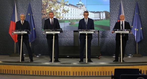 Tisková konference po jednání Stálého výboru pro výstavbu nových jaderných zdrojů, 13. listopadu 2019.