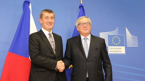 The first bilateral meeting between Andrej Babiš and the President of the European Commission, Jean-Claude Juncker, Brussels, 29 January 2018.