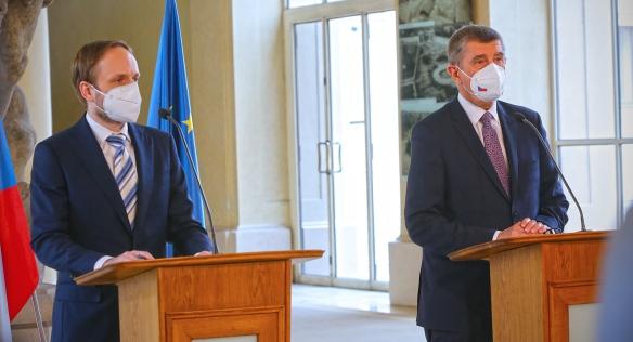Předseda vlády uvedl do funkce nového ministra zahraničí Jakuba Kulhánka, 21. dubna 2021.