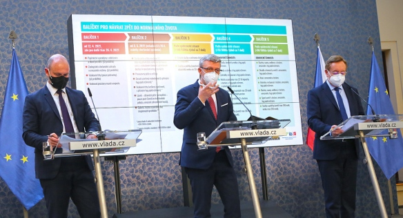 Tisková konference po mimořádném jednání vlády, 22. dubna 2021.