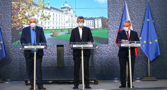 Tisková konference po zasedání tripartity, 2. listopadu 2020.