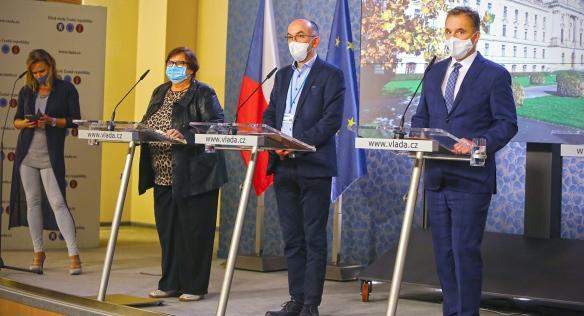 Tisková konference po jednání vlády, 2. listopadu 2020