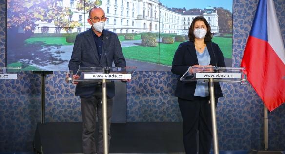 Tisková konference po mimořádném jednání vlády, 3. listopadu 2020