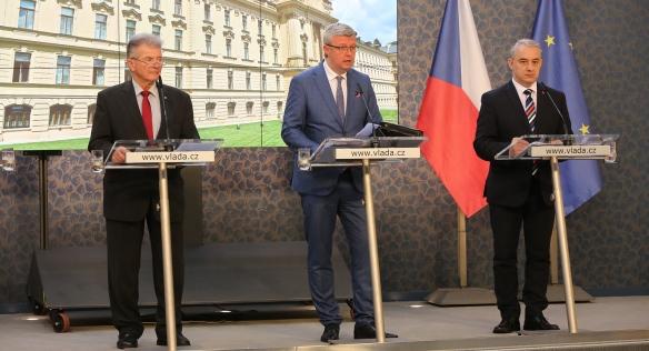 Tisková konference po jednání Rady hospodářské a sociální dohody, 29. června 2020.