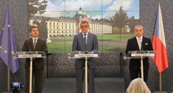 Tisková konference po jednání tripartity, 9. července 2018.
