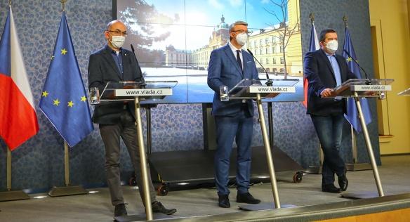 Tisková konference po mimořádném jednání vlády, 28. ledna 2021.