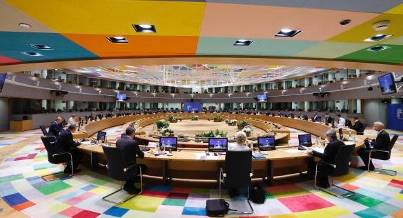 Na mimořádném jednání Evropské rady byla tématem pandemická situace, ale i klimatická politika, 25. května 2021. Zdroj: Evropská rada.