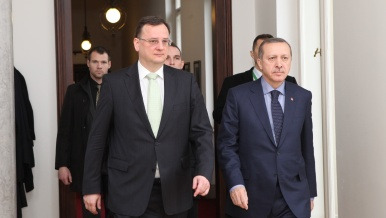 Czech Prime Minister Petr Nečas met Turkish Premier Recep Tayyip Erdogan on Monday 4 February 2013
