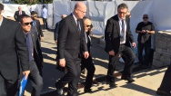 The Prime Minister Bohuslav Sobotka attended the funeral of Shimon Peres, 30 September 2016.
