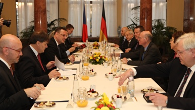 On Tuesday 13 November 2012, Prime Minister Petr Nečas met the President of the German Bundestag Norbert Lammert.