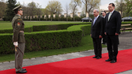 The first-ever visit of Israeli Prime Minister Benjamin Netanyahu to the Czech Republic began with a meeting with Prime Minister Petr Nečas, 7th April 2010