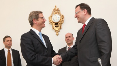 Prime Minister Petr Nečas received German Minister of Foreign Affairs Guido Westerwelle.