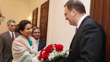 On Thursday 1 November, Czech Prime Minister Petr Nečas received Mrs Preneet Kaur, India's Minister of State for External Affairs.