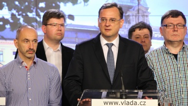Prime Minister and Civic Democratic Party's Chairman Petr Nečas has decided to step down on Monday.